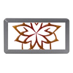 Abstract Shape Outline Floral Gold Memory Card Reader (mini)
