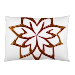 Abstract Shape Outline Floral Gold Pillow Case (two Sides)