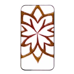 Abstract Shape Outline Floral Gold Apple Iphone 4/4s Seamless Case (black)
