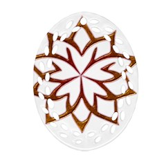 Abstract Shape Outline Floral Gold Ornament (oval Filigree)