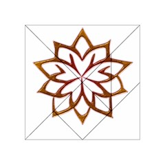 Abstract Shape Outline Floral Gold Acrylic Tangram Puzzle (4  X 4 )