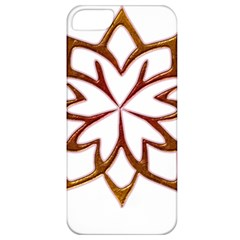 Abstract Shape Outline Floral Gold Apple Iphone 5 Classic Hardshell Case