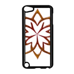 Abstract Shape Outline Floral Gold Apple iPod Touch 5 Case (Black)