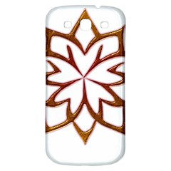 Abstract Shape Outline Floral Gold Samsung Galaxy S3 S Iii Classic Hardshell Back Case
