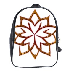 Abstract Shape Outline Floral Gold School Bags (XL)