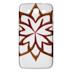 Abstract Shape Outline Floral Gold Samsung Galaxy Mega 5.8 I9152 Hardshell Case
