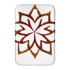 Abstract Shape Outline Floral Gold Samsung Galaxy Note 8 0 N5100 Hardshell Case