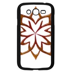 Abstract Shape Outline Floral Gold Samsung Galaxy Grand Duos I9082 Case (black)