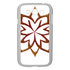 Abstract Shape Outline Floral Gold Samsung Galaxy Grand Duos I9082 Case (white)