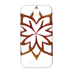 Abstract Shape Outline Floral Gold Samsung Galaxy S4 I9500/i9505  Hardshell Back Case