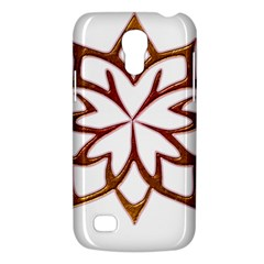 Abstract Shape Outline Floral Gold Galaxy S4 Mini
