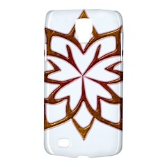 Abstract Shape Outline Floral Gold Galaxy S4 Active