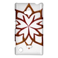 Abstract Shape Outline Floral Gold Nokia Lumia 720