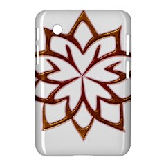 Abstract Shape Outline Floral Gold Samsung Galaxy Tab 2 (7 ) P3100 Hardshell Case