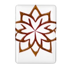 Abstract Shape Outline Floral Gold Samsung Galaxy Tab 2 (10 1 ) P5100 Hardshell Case