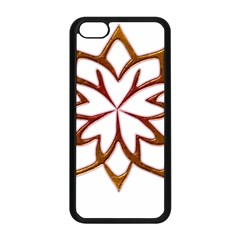 Abstract Shape Outline Floral Gold Apple Iphone 5c Seamless Case (black)
