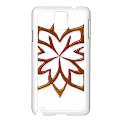 Abstract Shape Outline Floral Gold Samsung Galaxy Note 3 N9005 Case (white)