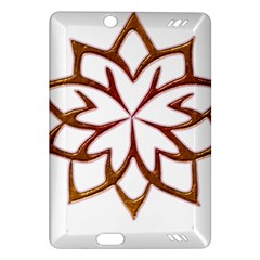 Abstract Shape Outline Floral Gold Amazon Kindle Fire Hd (2013) Hardshell Case