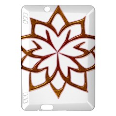 Abstract Shape Outline Floral Gold Kindle Fire HDX Hardshell Case