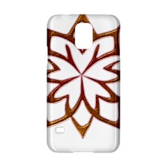 Abstract Shape Outline Floral Gold Samsung Galaxy S5 Hardshell Case
