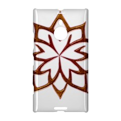Abstract Shape Outline Floral Gold Nokia Lumia 1520