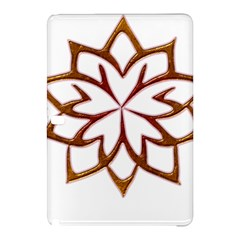 Abstract Shape Outline Floral Gold Samsung Galaxy Tab Pro 10.1 Hardshell Case