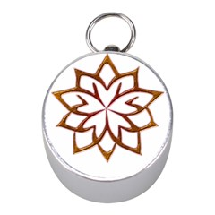Abstract Shape Outline Floral Gold Mini Silver Compasses