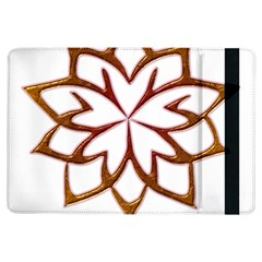 Abstract Shape Outline Floral Gold iPad Air Flip