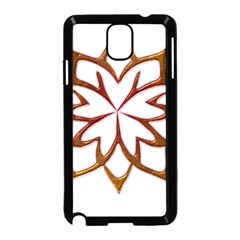Abstract Shape Outline Floral Gold Samsung Galaxy Note 3 Neo Hardshell Case (black)
