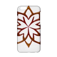 Abstract Shape Outline Floral Gold Apple Iphone 6/6s Hardshell Case
