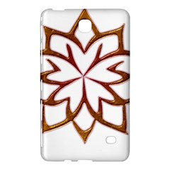 Abstract Shape Outline Floral Gold Samsung Galaxy Tab 4 (7 ) Hardshell Case