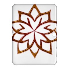 Abstract Shape Outline Floral Gold Samsung Galaxy Tab 4 (10 1 ) Hardshell Case