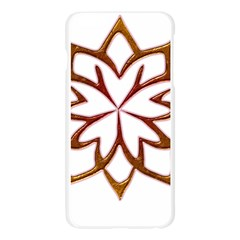 Abstract Shape Outline Floral Gold Apple Seamless iPhone 6 Plus/6S Plus Case (Transparent)