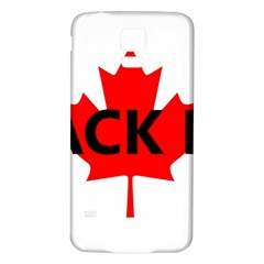 Black Lab Name Canadian Flag Samsung Galaxy S5 Back Case (White)