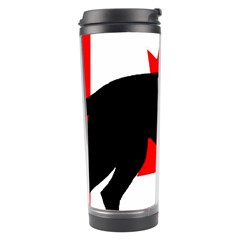 Black Lab Name Silo Canadian Flag Travel Tumbler