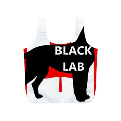 Black Lab Name Silo Canadian Flag Full Print Recycle Bags (S)