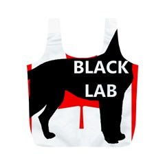 Black Lab Name Silo Canadian Flag Full Print Recycle Bags (M)