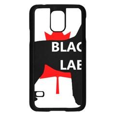 Black Lab Name Silo Canadian Flag Samsung Galaxy S5 Case (Black)