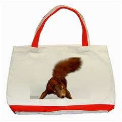 Squirrel Wild Animal Animal World Classic Tote Bag (Red)