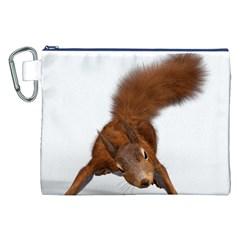Squirrel Wild Animal Animal World Canvas Cosmetic Bag (xxl)
