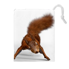 Squirrel Wild Animal Animal World Drawstring Pouches (Extra Large)