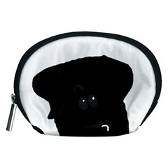 Black Lab Peeping Dog Accessory Pouches (Medium)