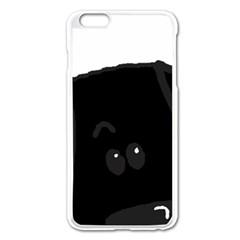 Black Lab Peeping Dog Apple iPhone 6 Plus/6S Plus Enamel White Case