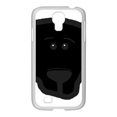 Blk Lab Head Samsung GALAXY S4 I9500/ I9505 Case (White)
