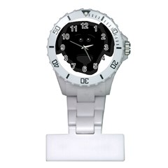 Blk Lab Head Plastic Nurses Watch