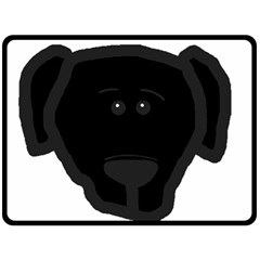Blk Lab Head Double Sided Fleece Blanket (Large)