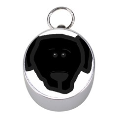 Blk Lab Head Mini Silver Compasses