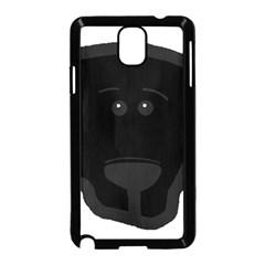 Blk Lab Head Samsung Galaxy Note 3 Neo Hardshell Case (Black)
