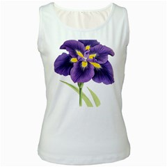 Lily Flower Plant Blossom Bloom Women s White Tank Top