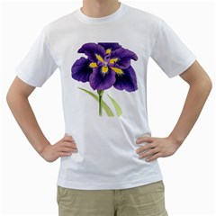Lily Flower Plant Blossom Bloom Men s T Shirt (white) (two Sided)